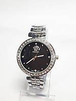 Женские часы на браслете Versace металлик, черный