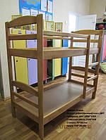 Деревянная 2-х ярусная 1400*600 кровать Кошкин дом