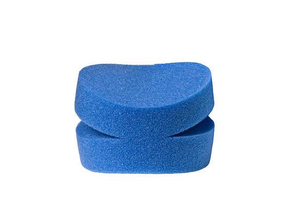 40840 100x50 мм Апликатор круглый надрезаный под пальцы, мягкий-Flexipads Split Blue Detail Foams (2 шт.), фото 2