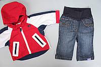 Костюм для новорожденного куртка / джинсы 2-4 мес.(68см,) б/у