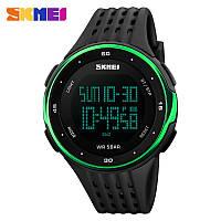 Спортивные часы SKMEI 1219 черные с зеленым