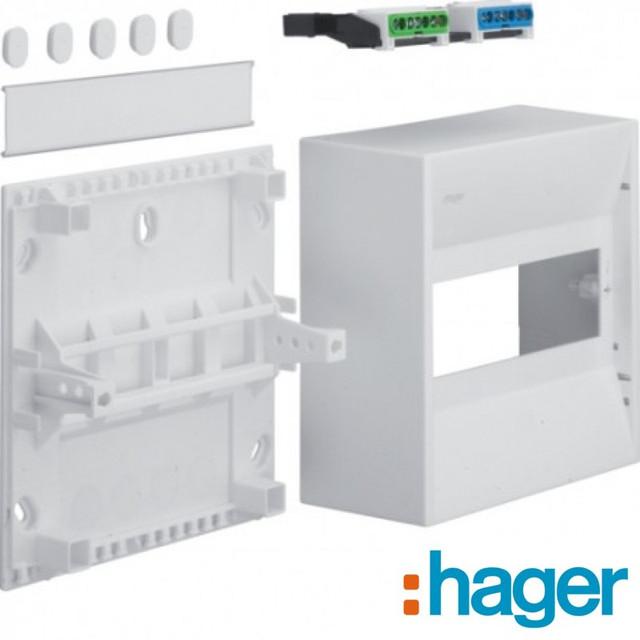 Распределительные мини-щитки открытой установки Hager