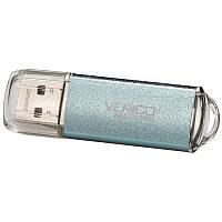 ➤Флешка USB Verico Wanderer 8 Gb Голубая универсальная компьютерная