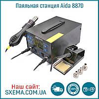 Паяльная станция AIDA 887D турбинная, фен + паяльник, съёмный фен, фото 1
