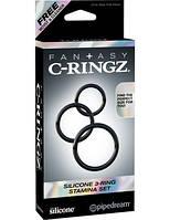Эрекционное кольцо - Fantasy C-Ringz Silicone 3-Ring Stamina Set