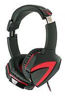 Гарнитура Bloody G501 Black/Red, 2 x Mini jack (3.5 мм), накладные, выдвижной микрофон, кабель 2,2 м, 7.1 Surr