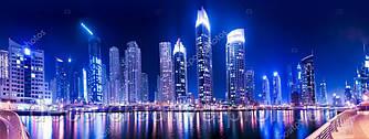 """Фотообои """"Дубаи ночью"""""""