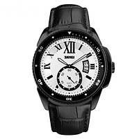 Часы Skmei 1135 Black Case White Dail BOX, фото 1