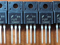 FQPF20N60C / 20N60C - N-Channel MOSFET TO-220F 20A 600V