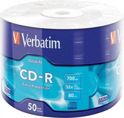CD-R диски для аудио Verbatim Spindle Wagon Wheel 50 pcs Extra