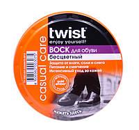 Воск для обуви из гладкой кожи Twist (бесцветный) 50 ml