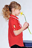 Стильная блузка в горошек на девочку, фото 2