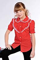 Стильная блузка в горошек на девочку
