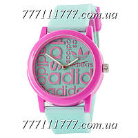 Часы женские наручные Adidas Green-Pink Silicone