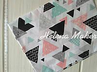 Польская бязь Треугольники 50*50 см