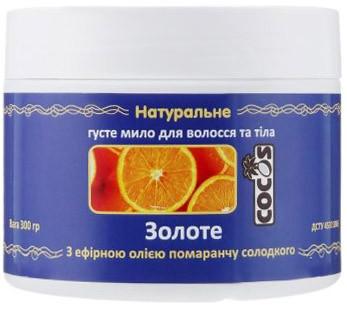 Густое мыло Золотое с маслом Апельсина сладкого, 300 г