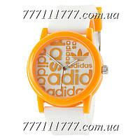 Часы женские наручные Adidas Orange-White Silicone