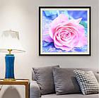 Алмазная вышивка, роза, 30х30 см, фото 2