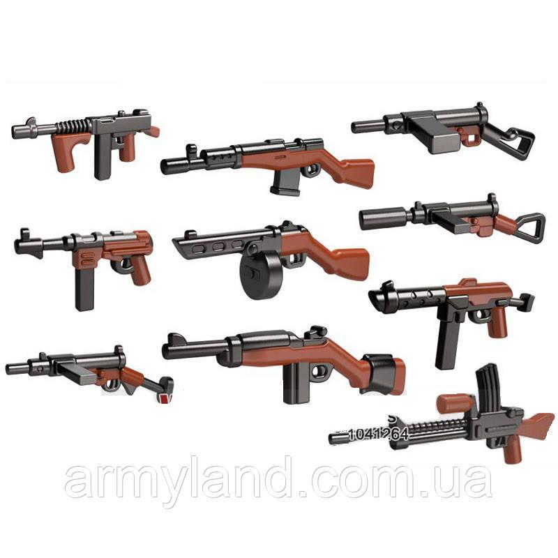 Военные фигурки,Пак 10шт. оружия Вторая Мировая, аналог лего, BrickArms