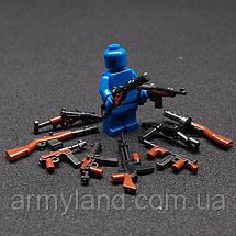 Военные фигурки,Пак 10шт. оружия Вторая Мировая, аналог лего, BrickArms, фото 3