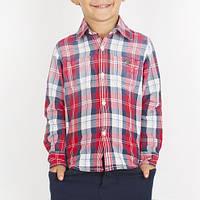 Рубашка на мальчика ,итальянская,хлопковая ,в клетку