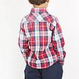 Рубашка на мальчика ,итальянская,хлопковая ,в клетку, фото 2