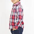 Рубашка на мальчика ,итальянская,хлопковая ,в клетку, фото 3