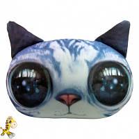 Антистрессовая игрушка мягконабивная Soft Toys Кот глазастый серый