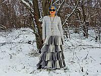Женское вязаное платье. Зимнее платье