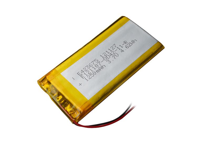 Аккумулятор литий-полимерный 3,7V 1250mAh