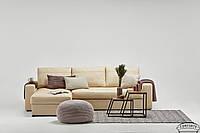Кожаный диван Калифорния с оттоманкой, не раскладной диван, мягкий диван, мебель из кожи, диван