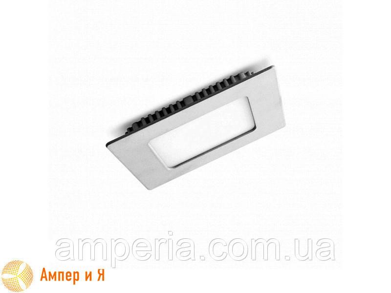 Светильник встраиваемый квадратный DownLight EUROLAMP LED 4W 3000K