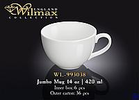 Чашка фарфоровая чайная WILMAX wl-993038 420 мл