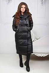 Удлиненное пальто на завязках