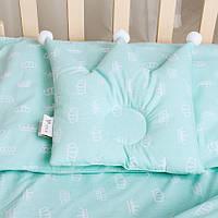 Подушка в кроватку Корона 37*32 мята