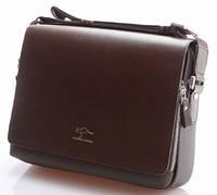 Стильная мужская сумка KANGAROO (под формат А4 - черная). Сумка-планшетка, сумка CrossBody, сумка через плечо.