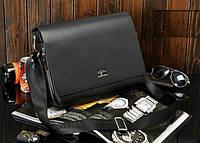 Стильная мужская сумка KANGAROO (под формат А4 - черная) Сумка-планшетка - сумка через плечо.