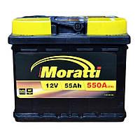Автомобильный аккумулятор MORATTI 55 Ah (R+;L+)