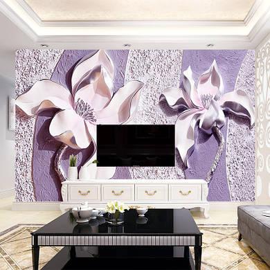 """3D фотообои """"Объёмные орхидеи"""""""