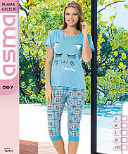 Пижама с бриджами хлопок, Asma