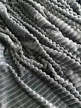 Ткань плюшевая Minky Stripes графит (шарпей)