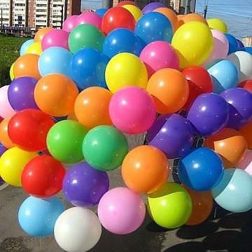 Пастельные шары с гелием в Сумах цвета в ассортименте