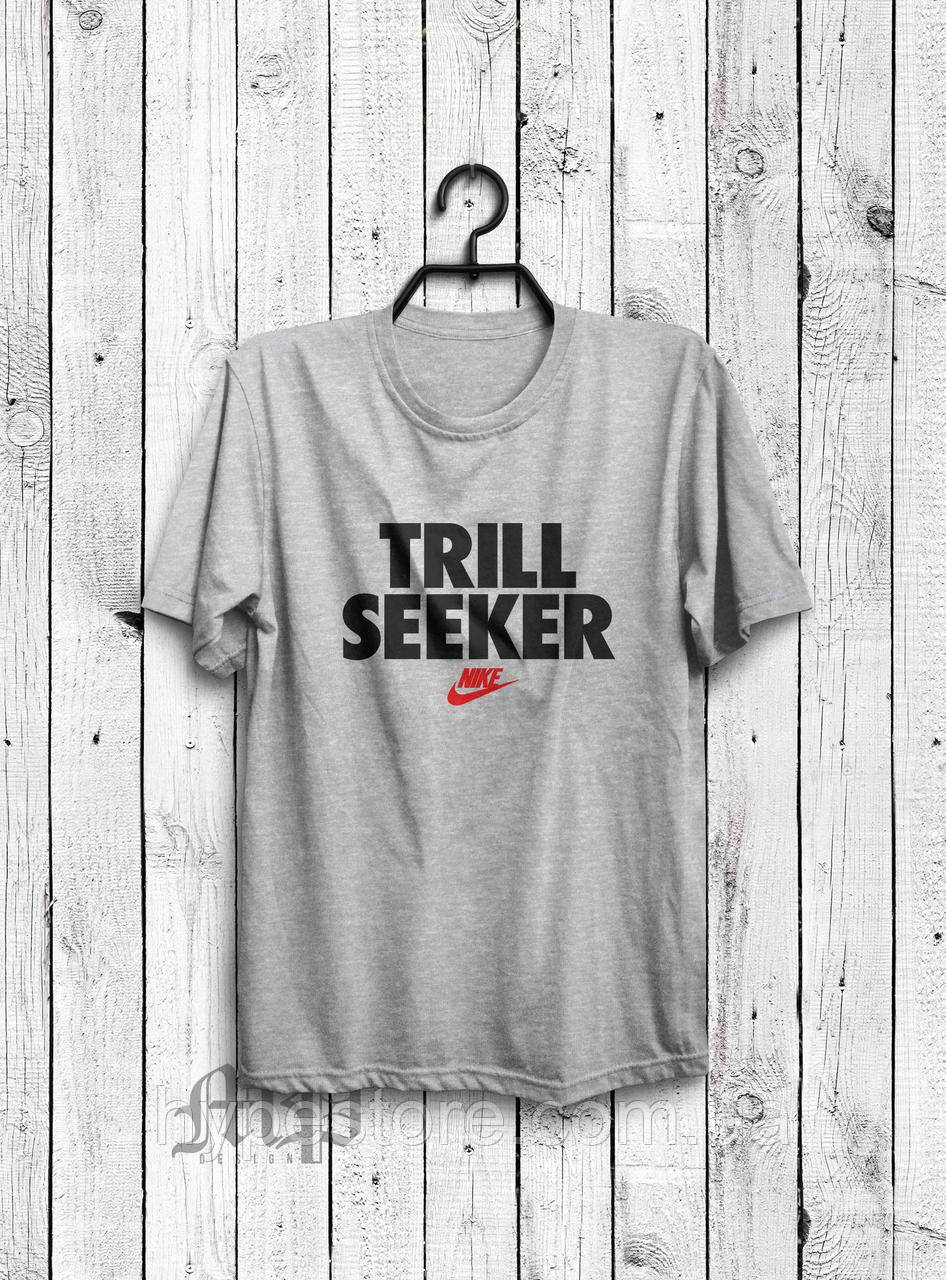 Футболка мужская Nike TRILL SEEKER (серый), Реплика