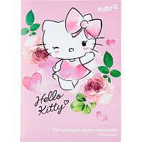 """Цветная бумага А4 двухстор. 10л. 5цв. неон """"Hello Kitty""""Kite"""