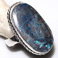 Кольцо с хризоколлой в серебре. Природная хризоколла. Размер 18-18,5 Индия!, фото 1