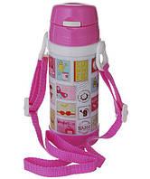 Вакуумный термос детский с трубочкой 320мл A-plus 1776 Pink, фото 1