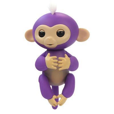 Ручная интерактивная обезьянка HappyMonkey Fingerling Purple