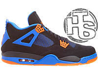 Женские кроссовки Air Jordan 4 IV Retro Cavs Black/Orange Blaze/Old Royal 308497-027