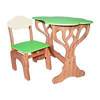 """Детский набор стол и стул """"Дубок"""" растишка (салатовый), фото 1"""