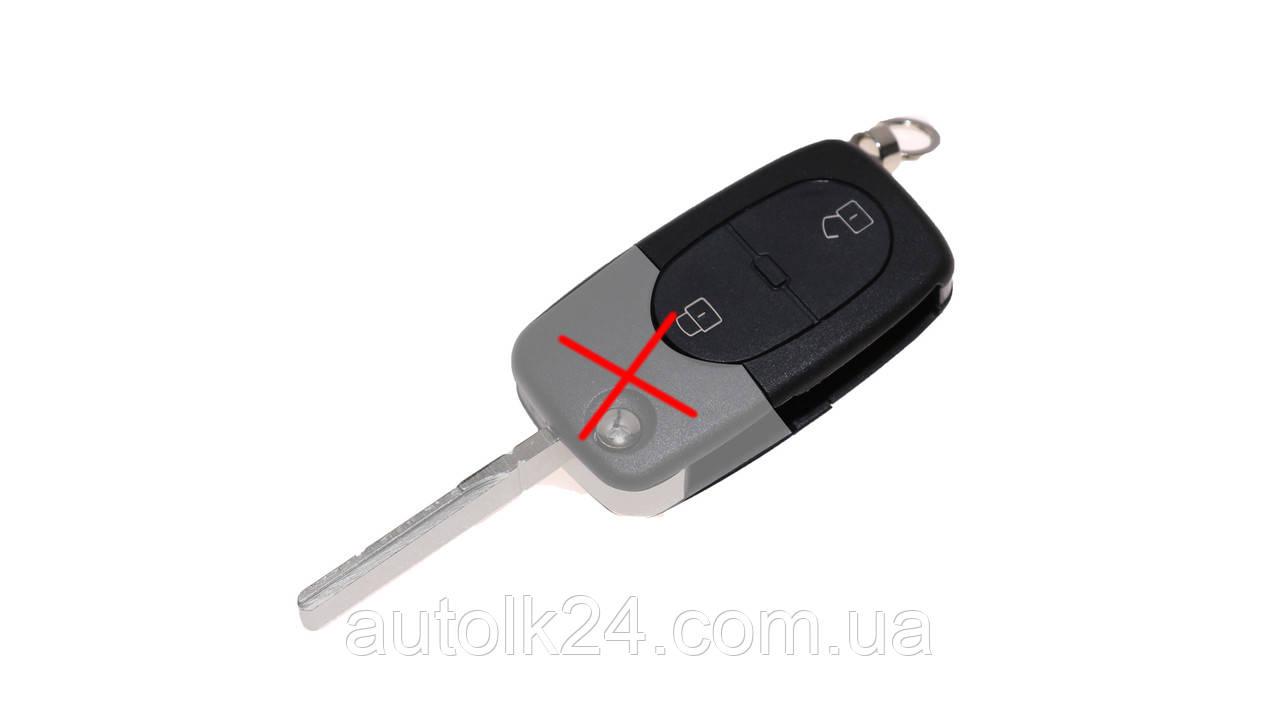 Автомобильный выкидной ключ\пульт(корпус) для Volkswagen,1J0959753A,1J0 959 753 A под батарейку CR20